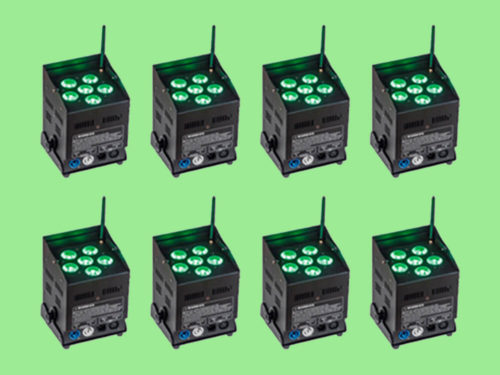 Kit 8 focos LED RGBWA Pro Light Free Par Pro 72 5 en 1